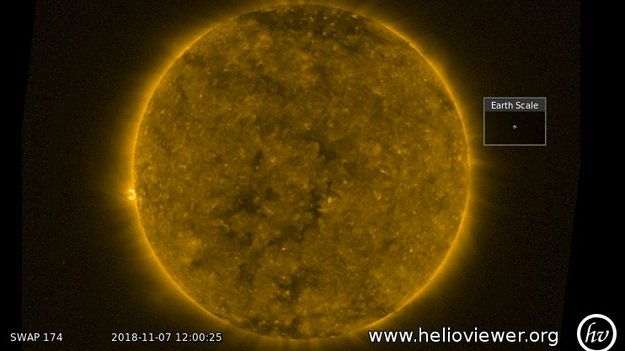 holes in the sun