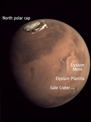 Elysium Planitia – labelled view