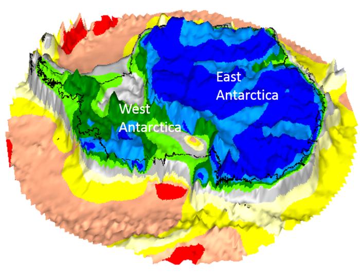 Space in Images - 2018 - 11 - GOCE map of Antarctica on bedrock ...