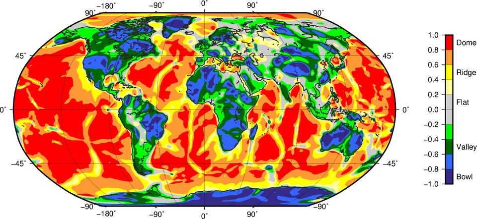 GOCE's global tectonic map