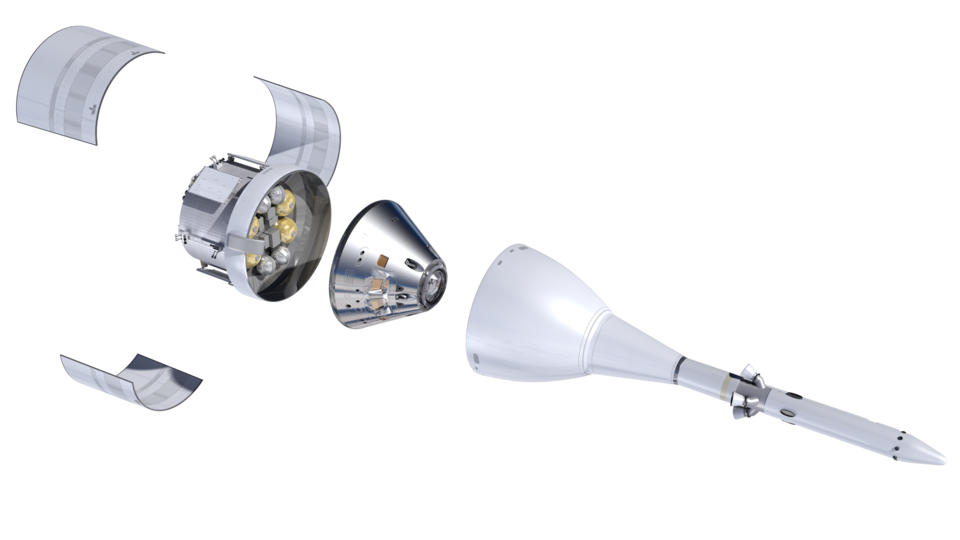Orion elements with Spacecraft Adapter Jettisonable fairings