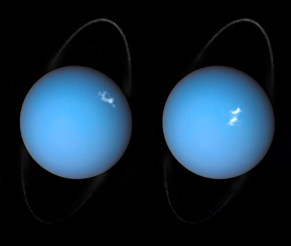 Polar lights on Uranus