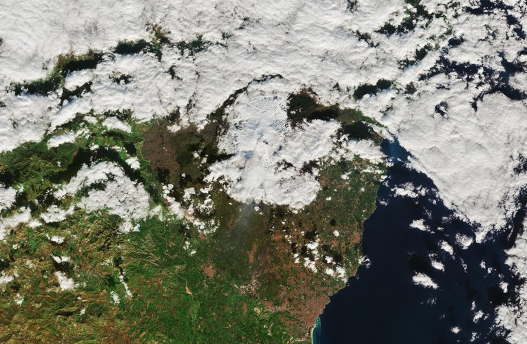 Snow-covered Etna