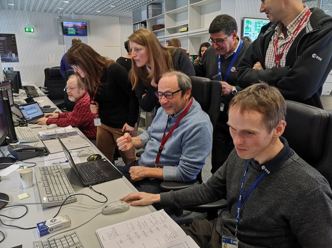 BepiColombo's on-Earth team celebrate firing success