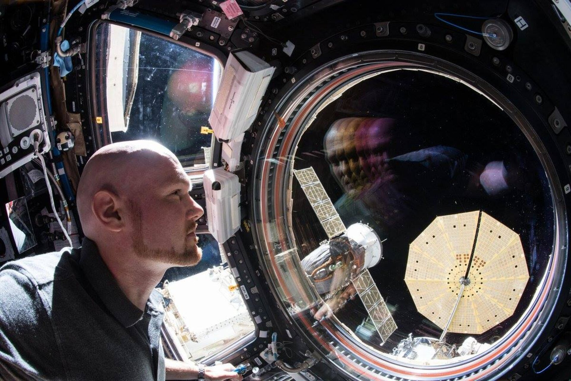An astronaut's reflection