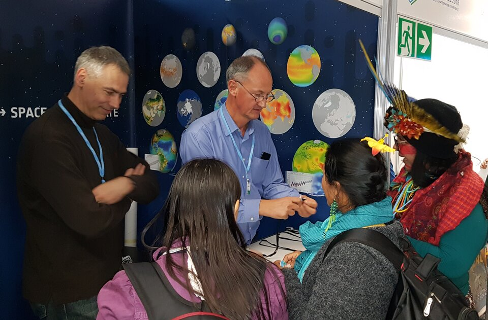 ESA stand at COP24