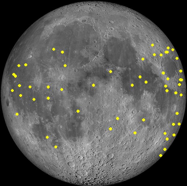 meteornedlag på Månen de sidste 2 år