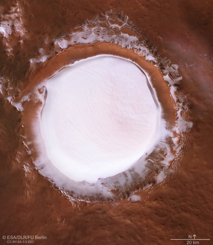 Plan view of Korolev crater