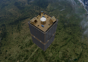 Vista superior del satélite ESEO