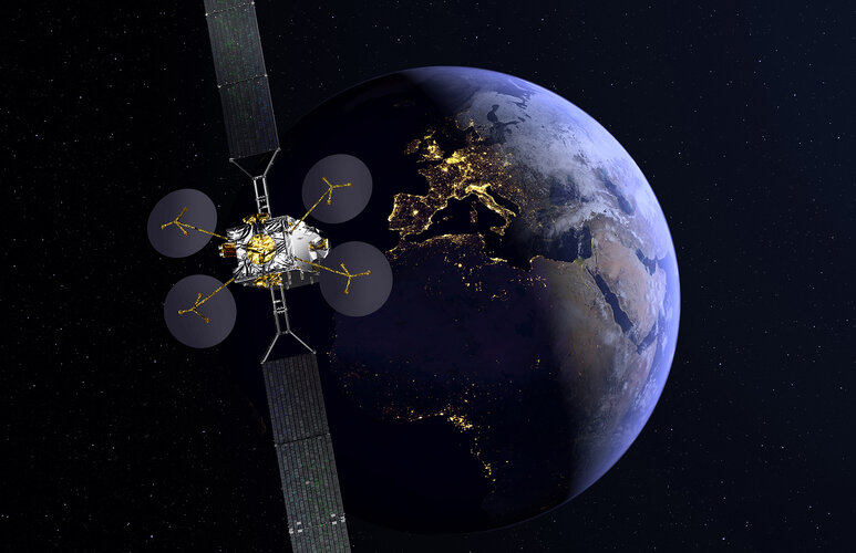 Artist's impression of the Eutelsat Konnect satellite