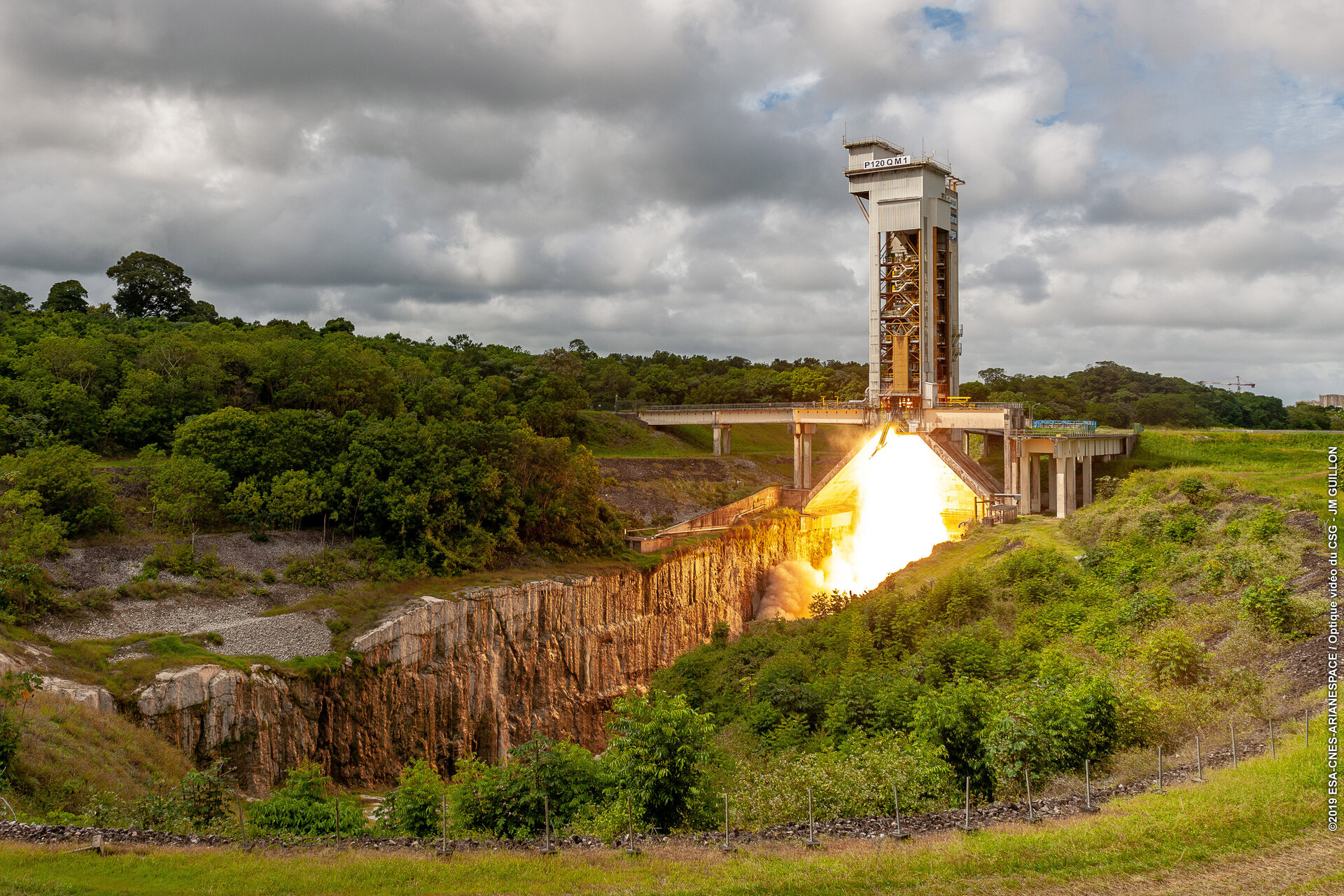 P120C booster testing at Europe's Spaceport