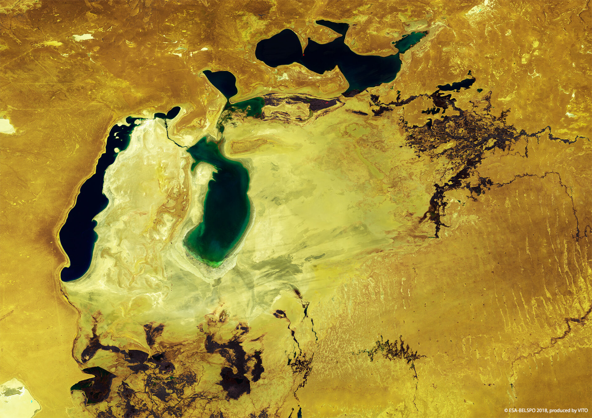 Shrinking Aral Sea