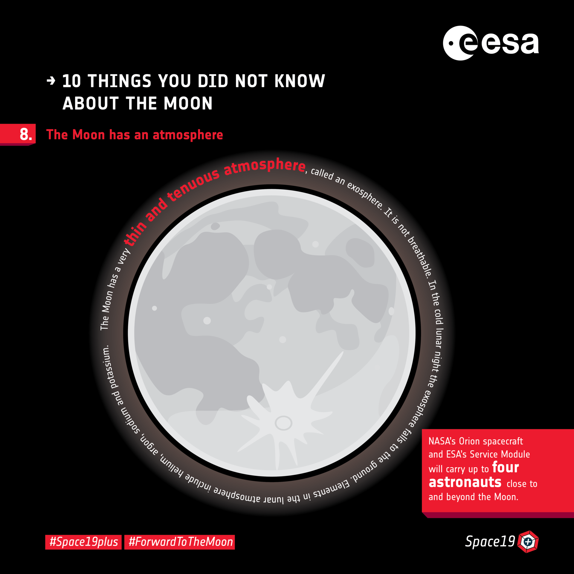 Ten things you did not know about the Moon: 8. Atmosphere