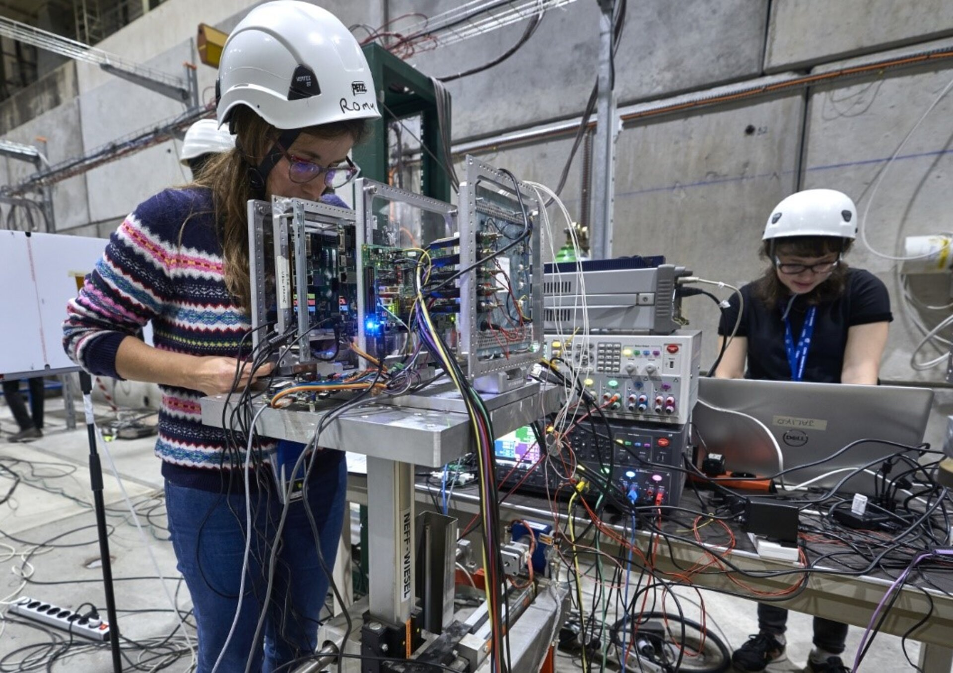 AI chip testing at CERN