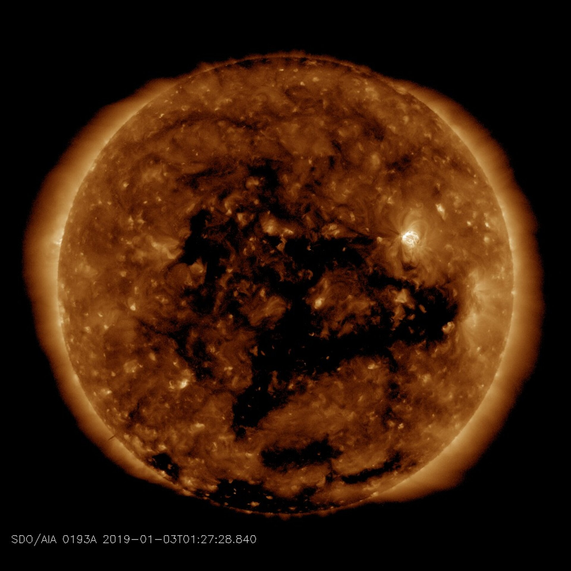 Coronal hole observed from space