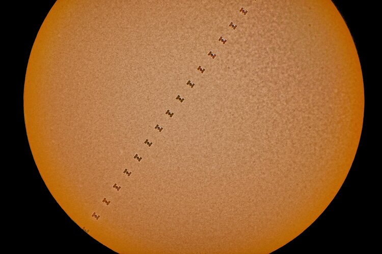ISS transits the Sun, Space Weather