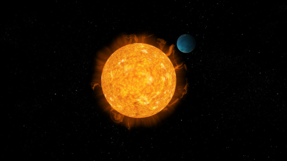 Exoplanet and star