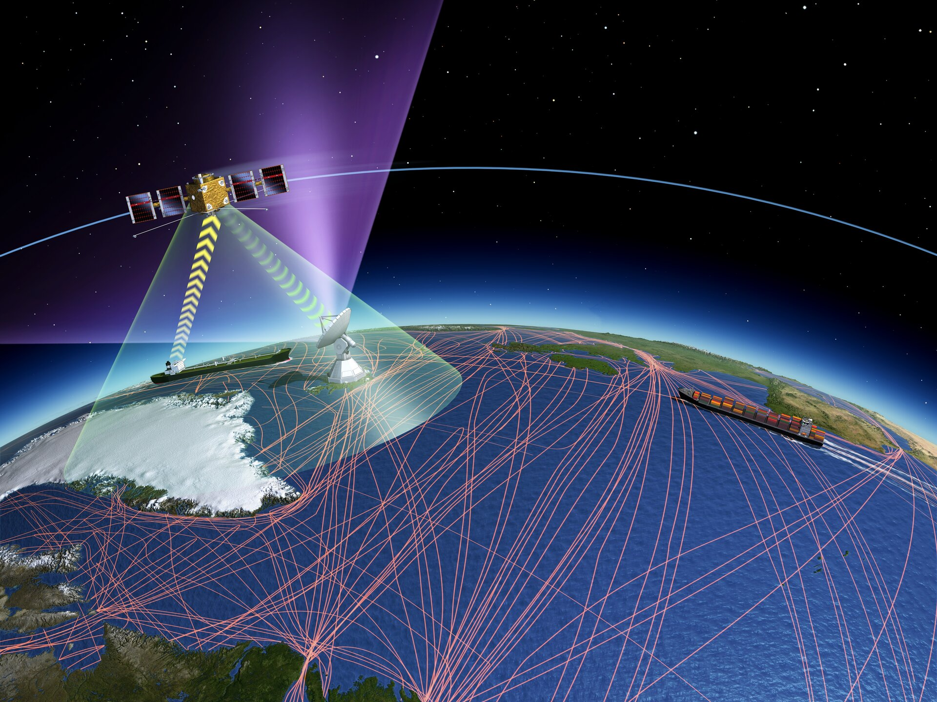 Space-based services to provide global ship tracking.