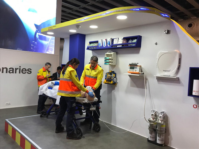 Satcom 5G-enabled ambulance demonstration