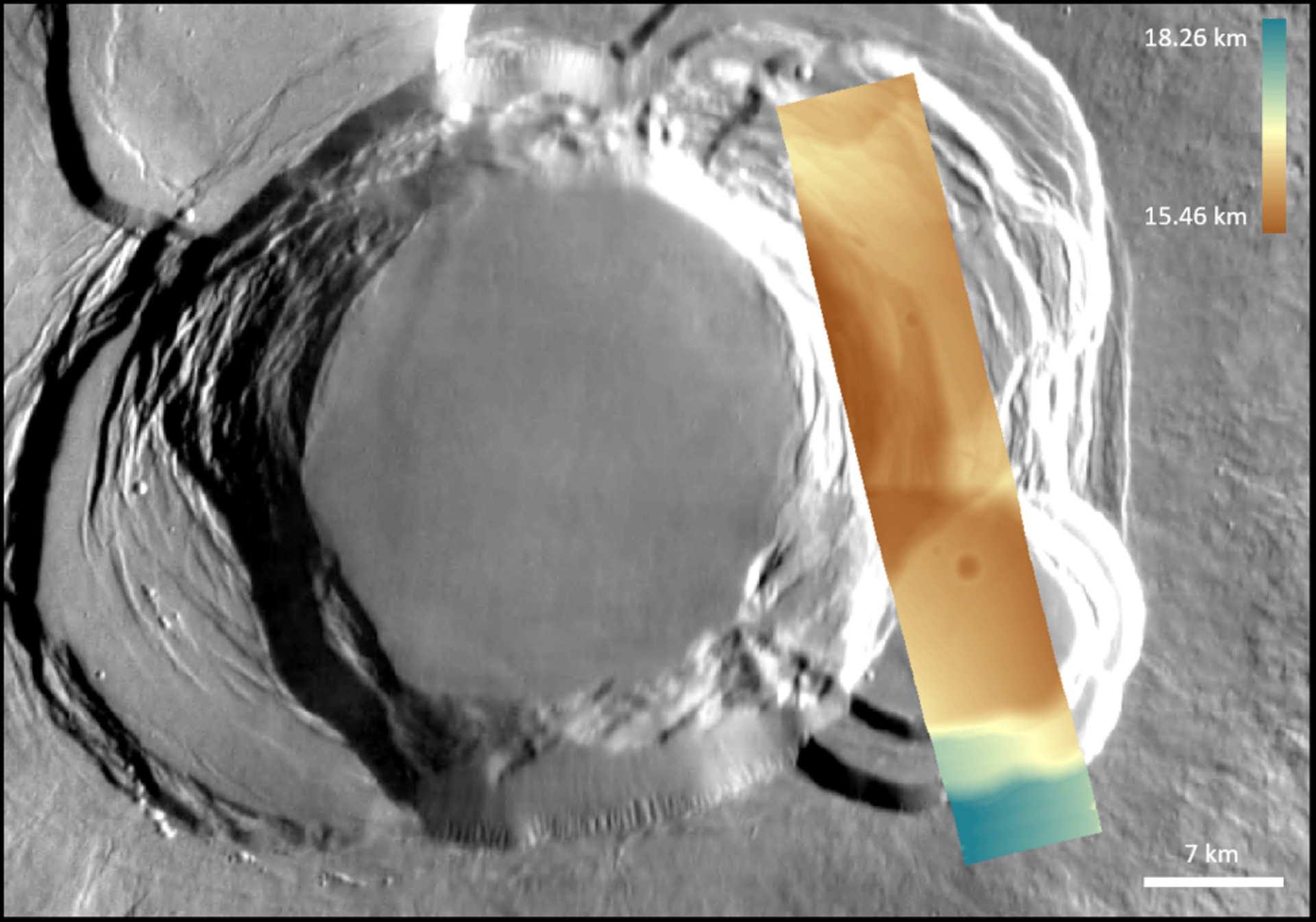 Ascraeus Mons – digital terrain model