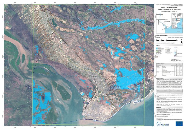 Copernicus Sentinel-1 maps floods from Idai