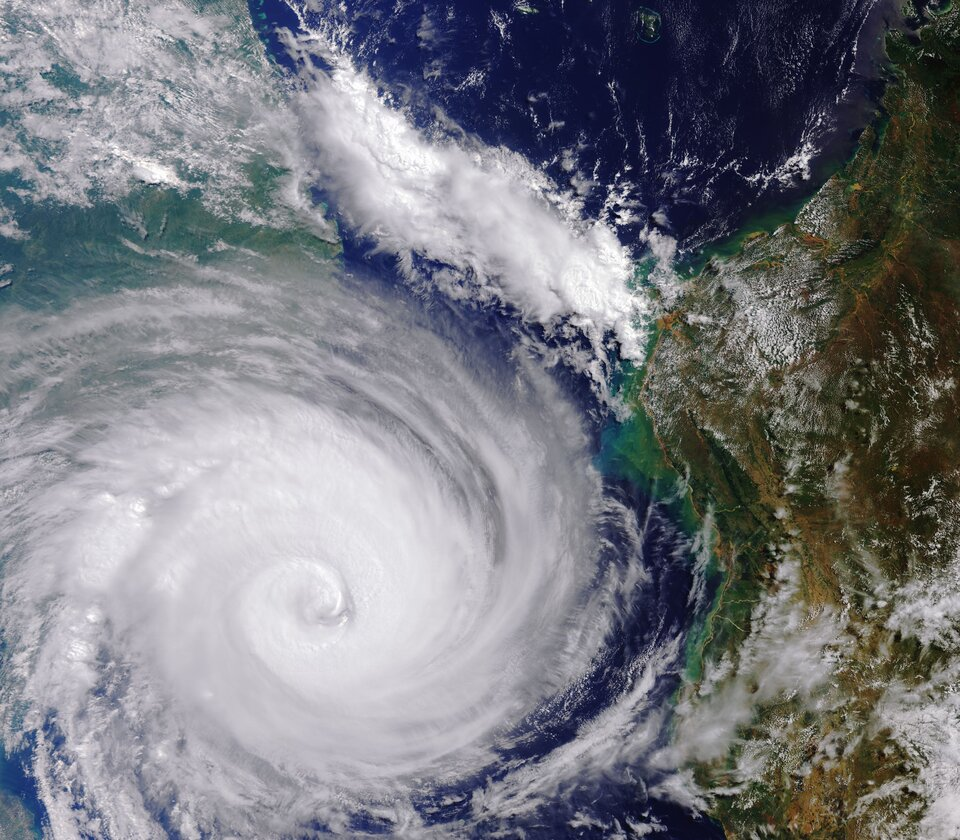 Cyclone Idai west of Madagascar