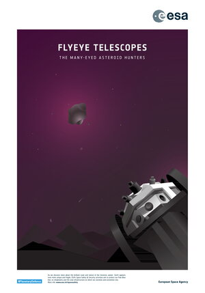 Space safety & security poster: Flyeye Telescopes