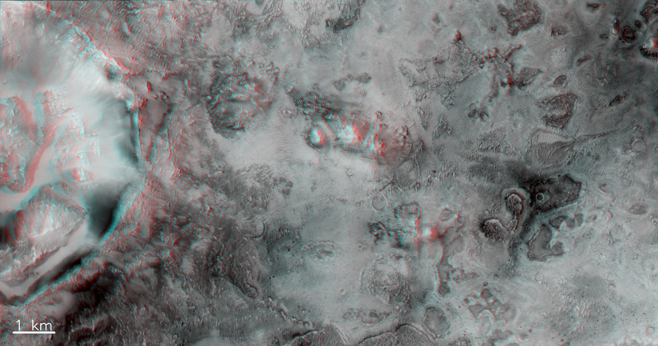 Jezero Crater neighbourhood – 3D