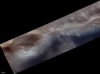 South polar layered terrains
