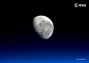 The Moon as seen from the Space Station
