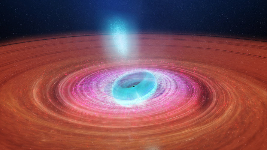 A 'spitting' black hole