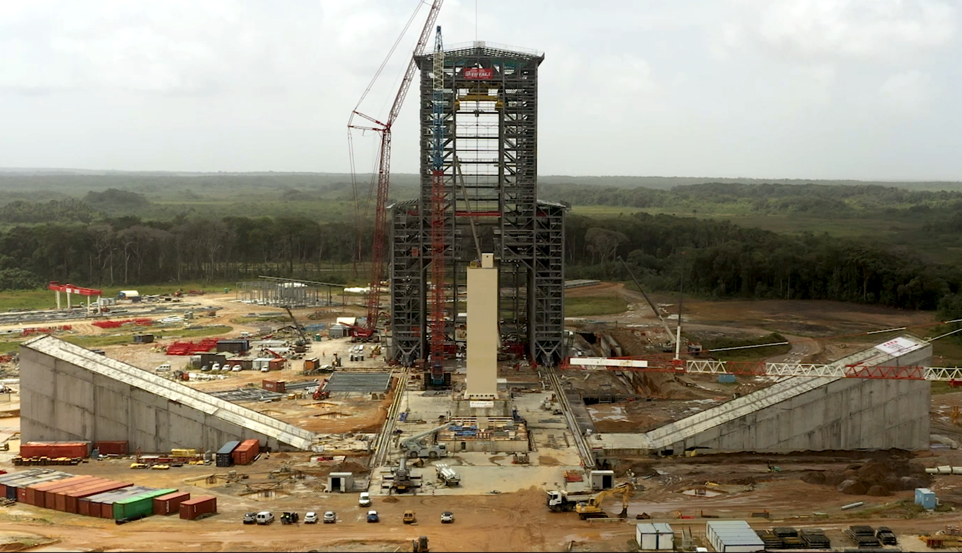 Ariane 6 launch pad under construction