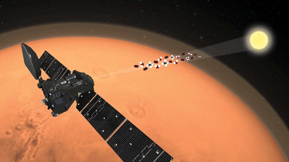ExoMars Trace Gas Orbiter analyses the martian atmosphere