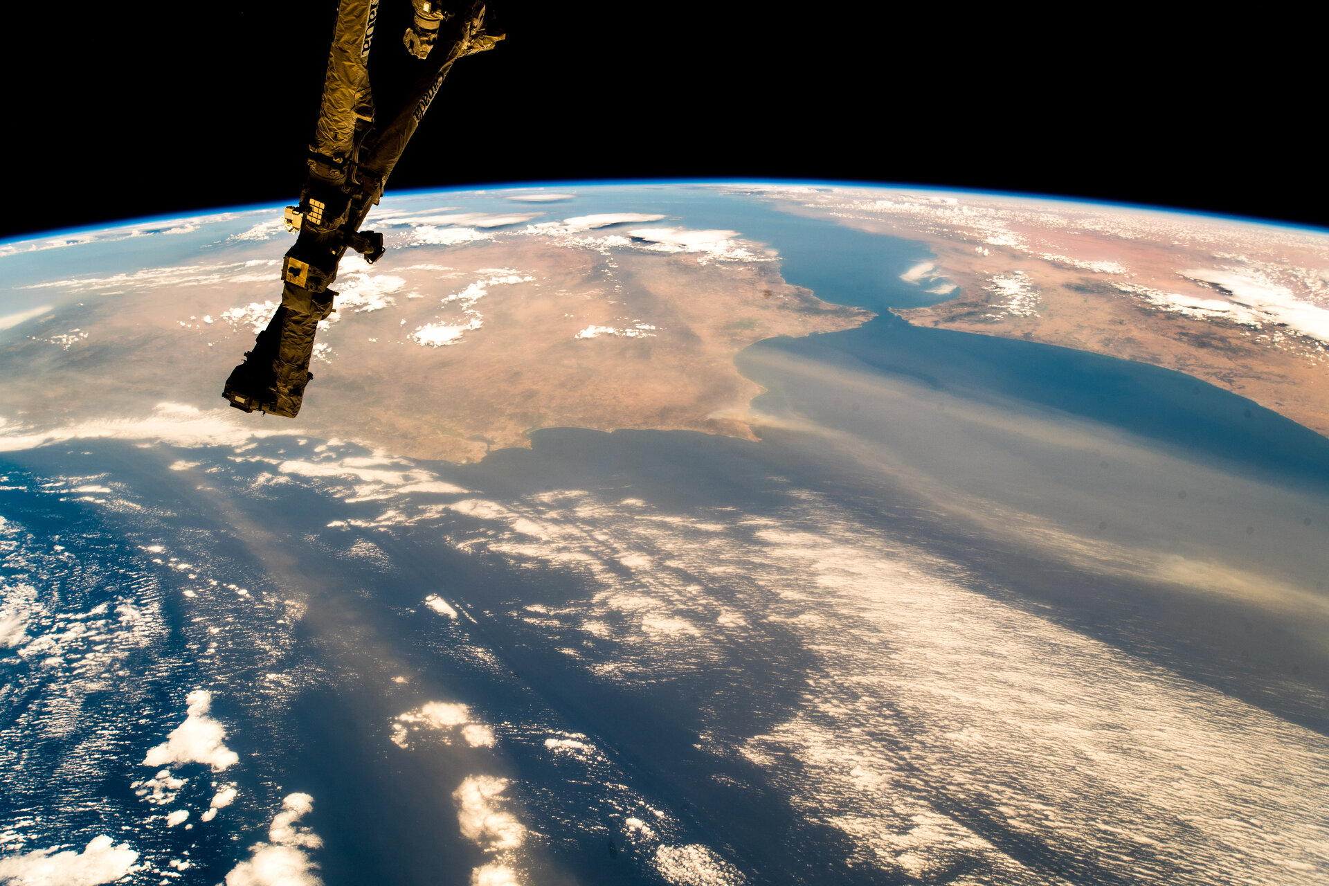Ocean and soil – Iberian peninsular seen from space