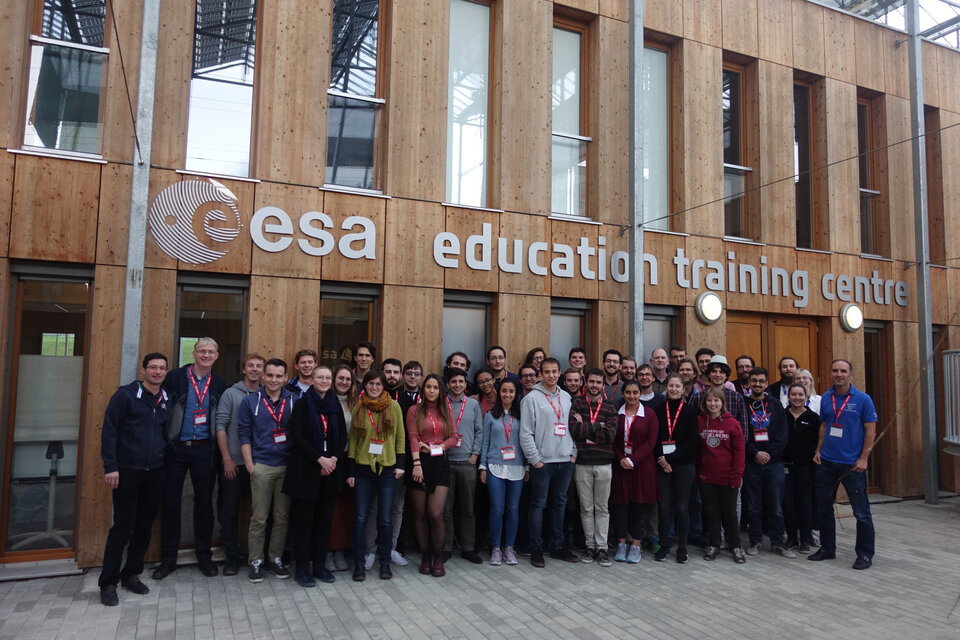 The students and trainers at the ESA Academy's Training Centre