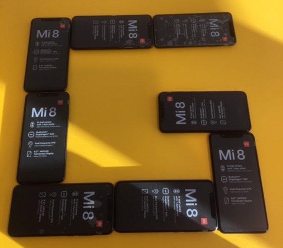 Xiaomi Mi 8 smartphones