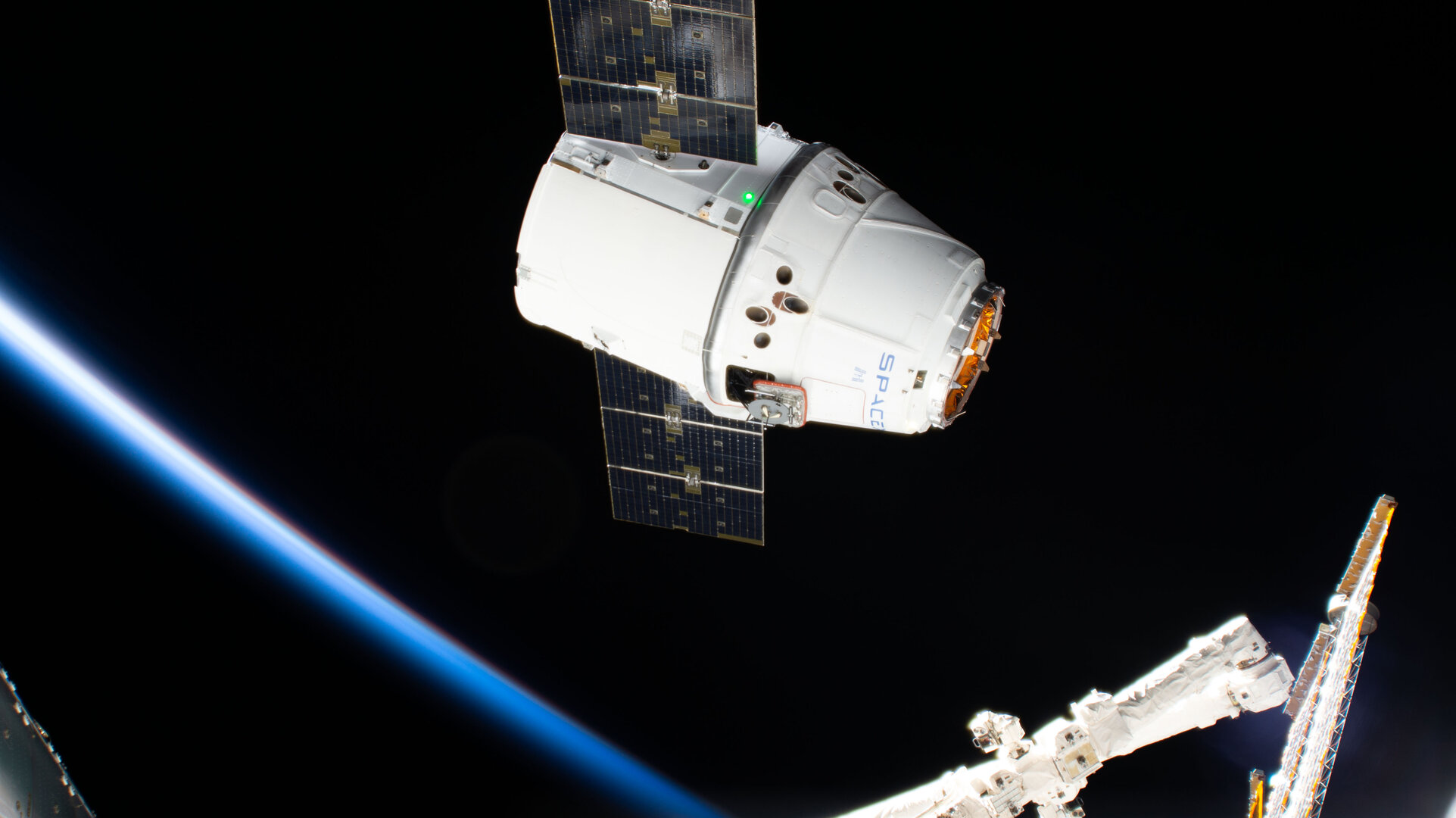 Dragon arriving at Space Station