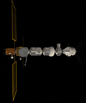 Gateway with Orion docked right
