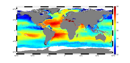 Global sea-surface salinity