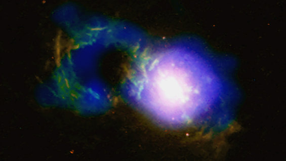 Storm in the Teacup quasar