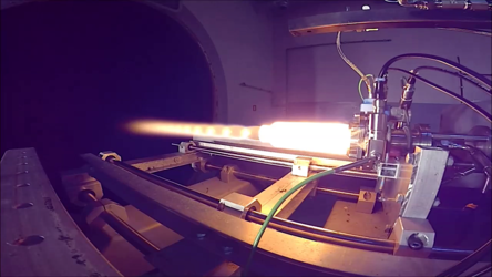 Test of bi-propellant thruster with pintle injector