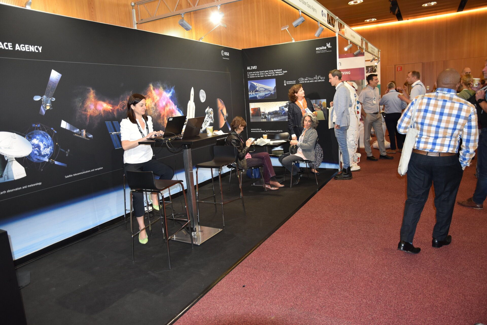 The ESA booth at the Ecsite Annual Conference 2018