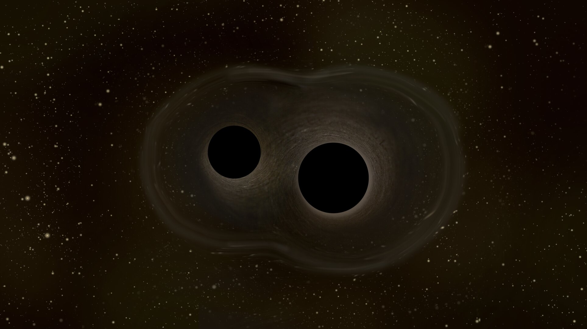 ESA - Two merging black holes