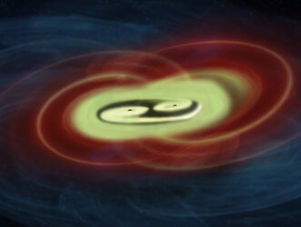Two merging supermassive black holes