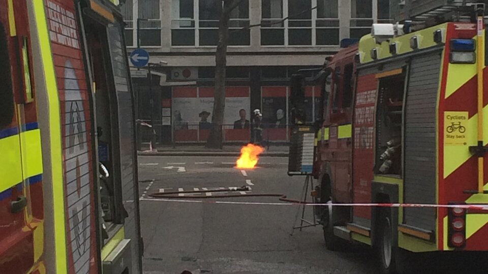 Underground fire in central London