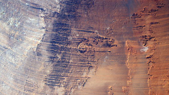 Aorounga impact crater in Chad