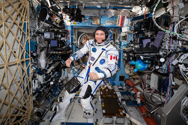 David Saint-Jacques in Sokol suit