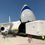 EDRS-C satellite enters Antonov cargo plane