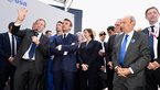 [2/32] French President Emmanuel Macron visits the ESA stand at Le Bourget 2019