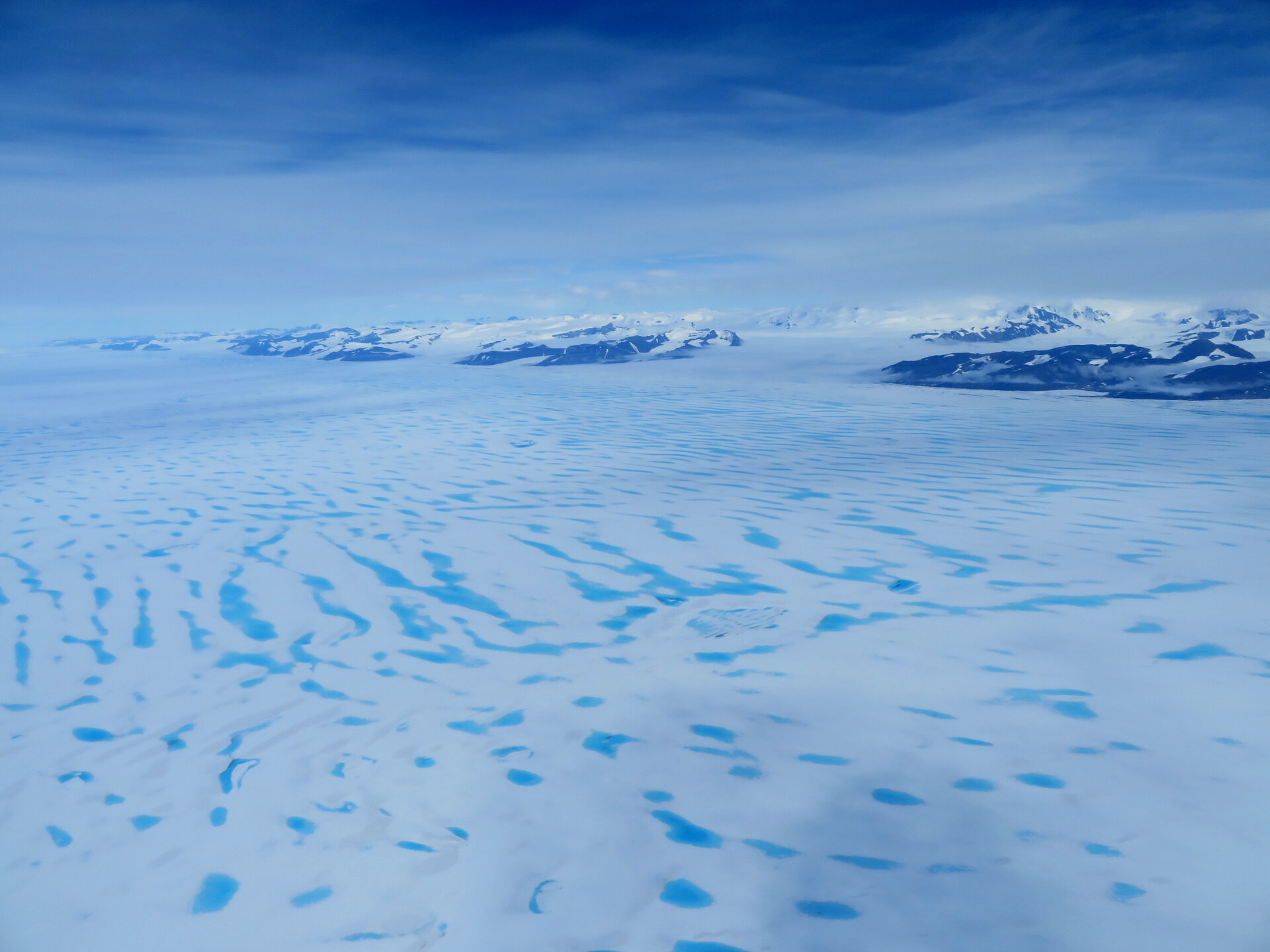 George VI Ice Shelf from the air